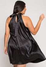 Plus Size Party Time Pleated Dress