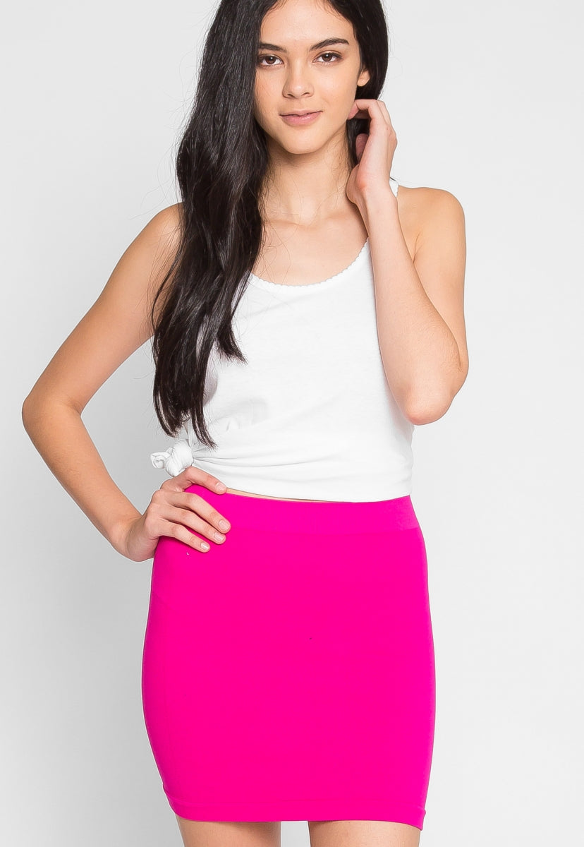 Free Play Knit Skirt in Fuchsia - Skirts - Wetseal