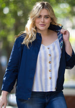 Plus Size Adventures Utility Jacket in Navy