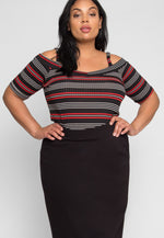 Plus Size Ease Pencil Skirt in Black