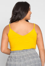 Plus Size Essentials Bodysuit in Mustard