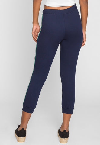 Luck Active Side Tape Joggers in Navy
