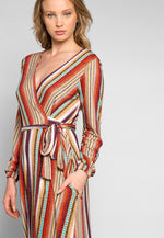 Lighting Up Striped Wrap Maxi Dress