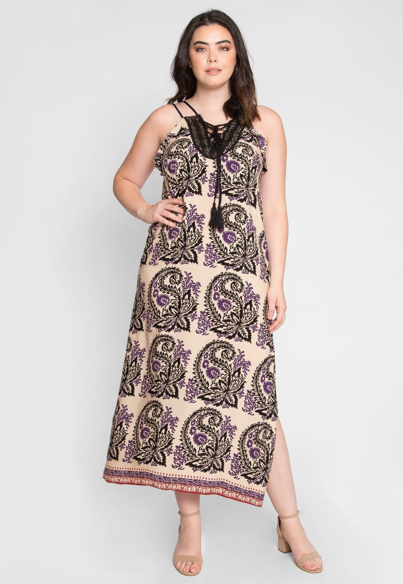 Plus Size Stevie Ornate Maxi Dress