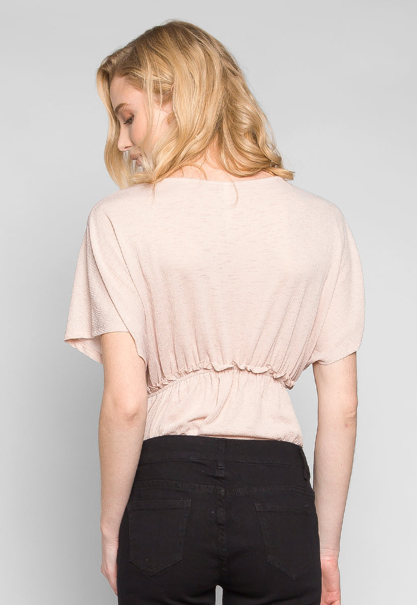 Apricot Fitted Waist Blouse - Shirts & Blouses - Wetseal