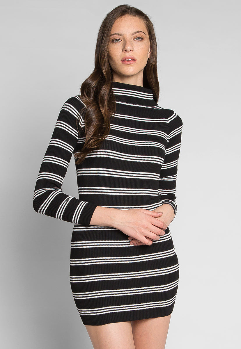 Take The Risk Turtleneck Knit Dress - Dresses - Wetseal