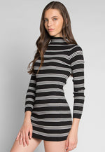 Take The Risk Turtleneck Knit Dress
