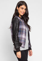 Mixed Lines Plaid Jacket
