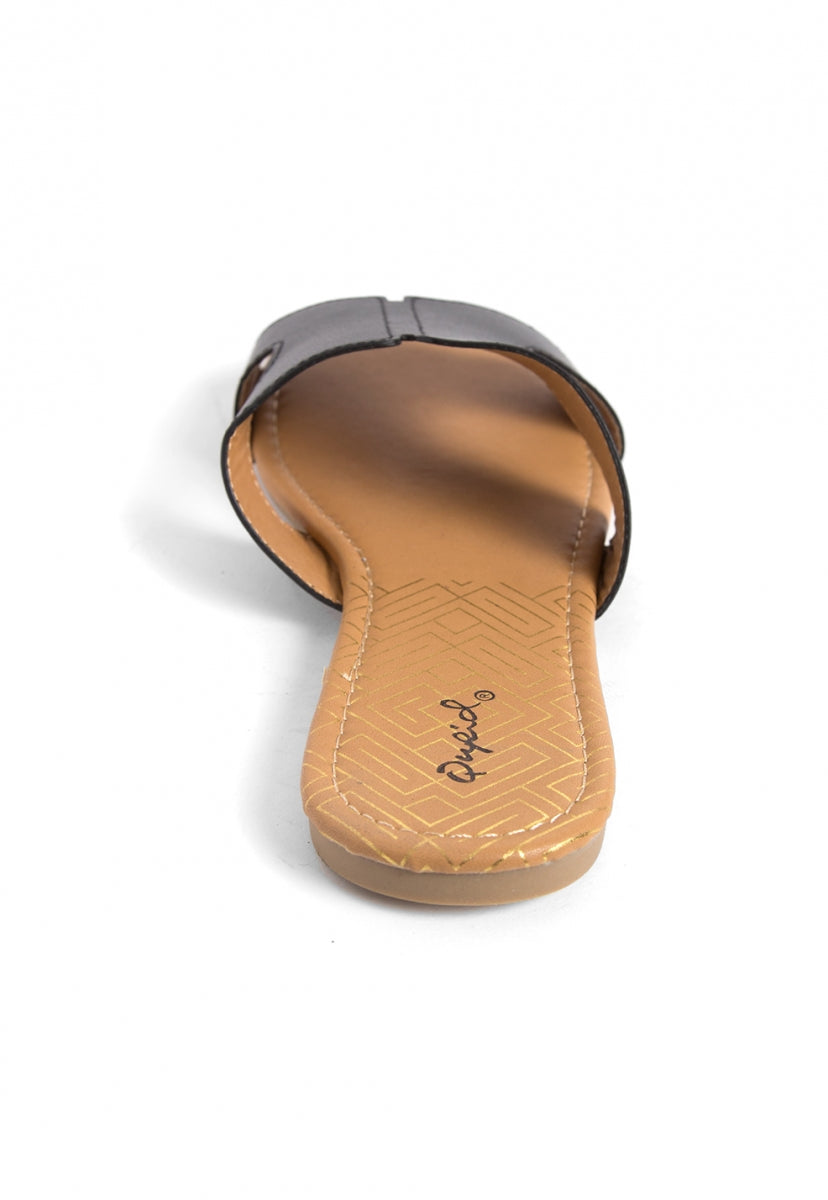 Bailey Cut Out Sandals in Black - Shoes - Wetseal