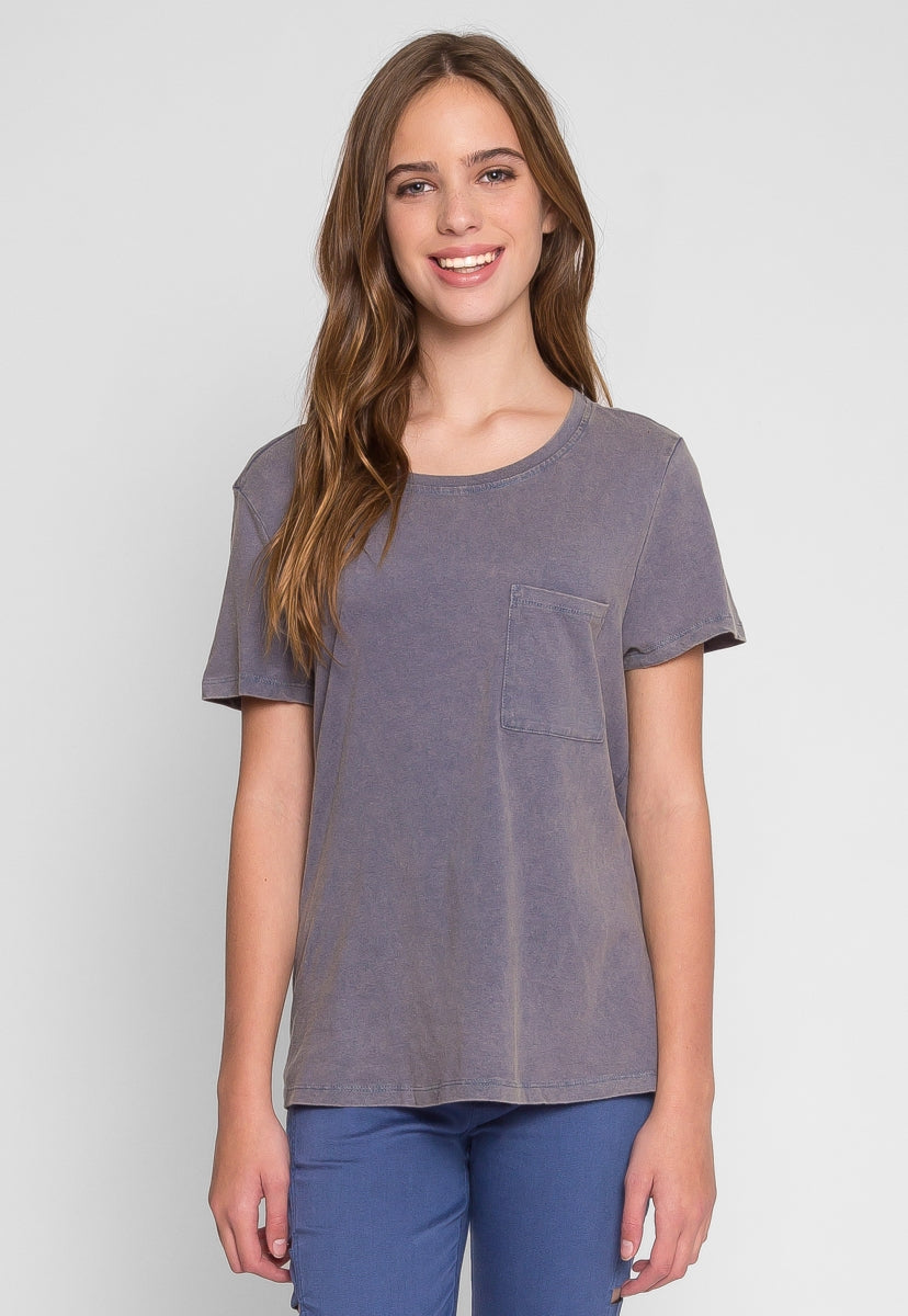 Sway Open Back Tee in Blue - T-shirts - Wetseal