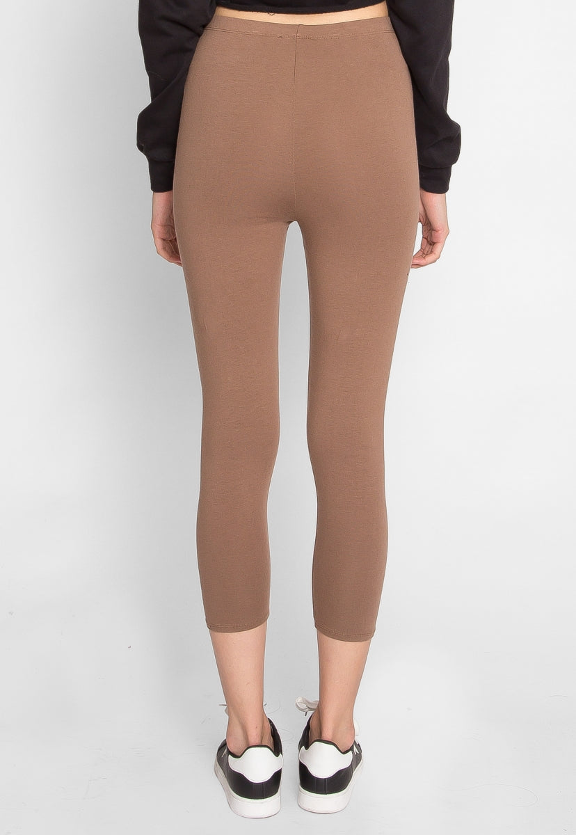 Beckford Capri Leggings in Mocha - Pants - Wetseal