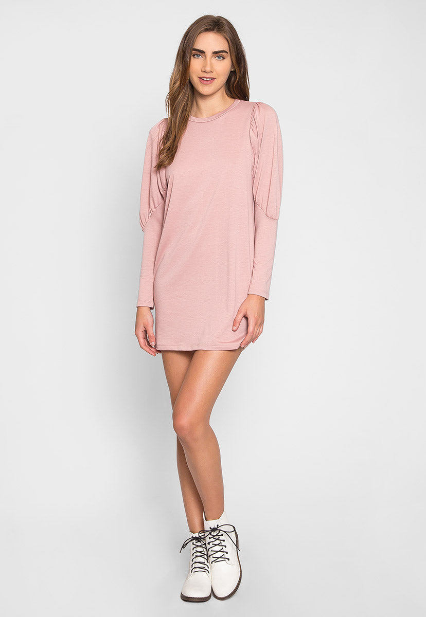 Macaron Puff Sleeve Sweater Dress - Dresses - Wetseal