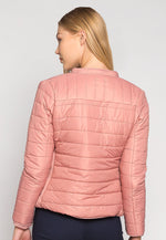 Feel the Love Soft Lining Quilted Jacket in Pink