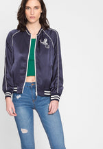 Baseball Game Varsity Satin Jacket