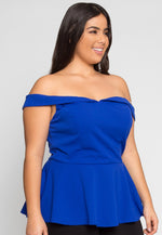 Plus Size Pretty Peplum Top