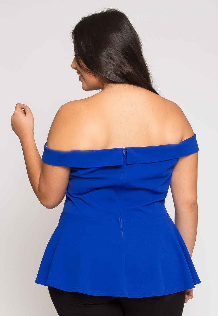 Plus Size Pretty Peplum Top - Plus Tops - Wetseal