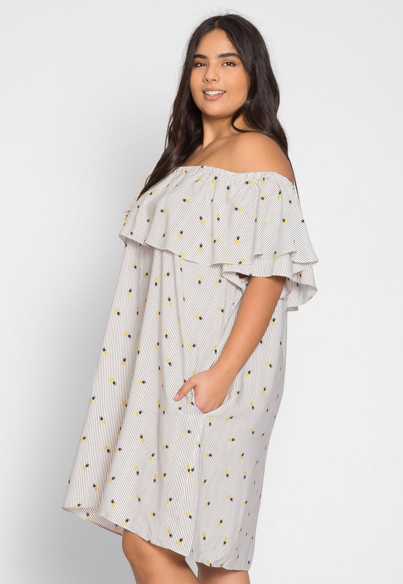 Plus Size Vera Pineapple Print Dress