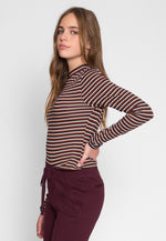 Throwback Multi Stripe Knit Top in Black