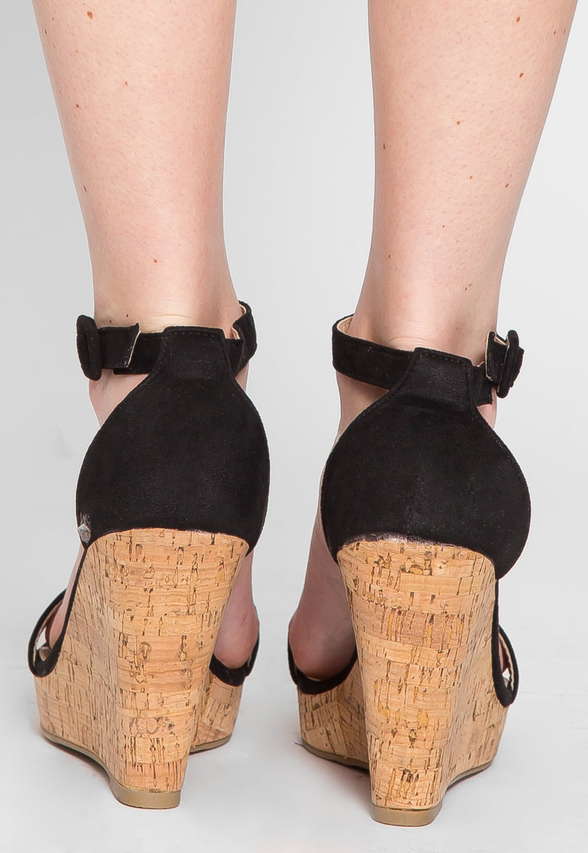 Sunset Cork Wedges - Shoes - Wetseal