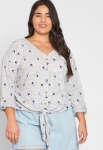 Plus Size Baxter Polka Dot Cardigan in Gray