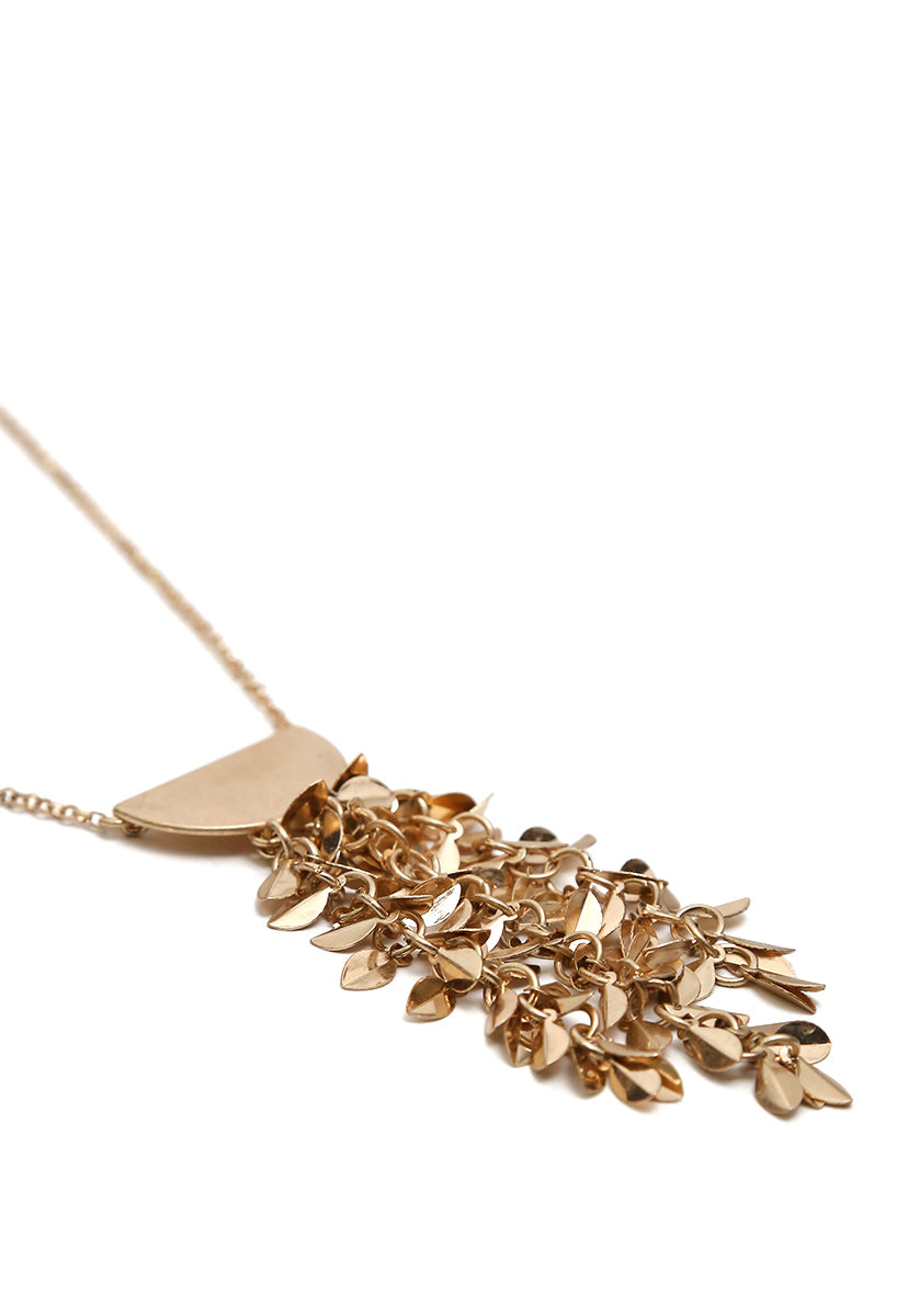 Leaf Waterfall Necklace - Jewelry - Wetseal