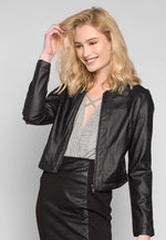 Signals Faux Leather Fitted Jacket
