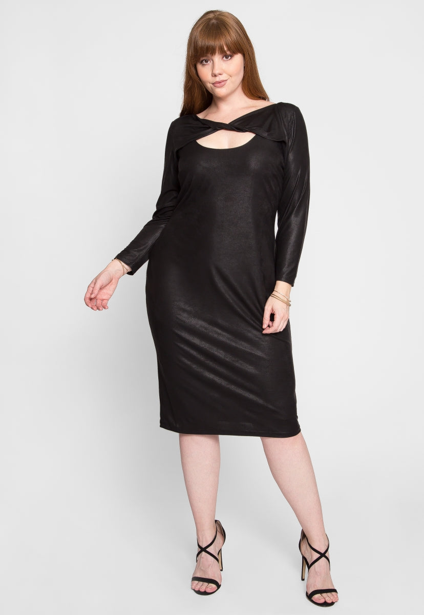 Plus Size Turn Around Fitted Dress - Plus Dresses - Wetseal