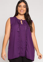 Plus Size Sweet Moments Blouse in Purple