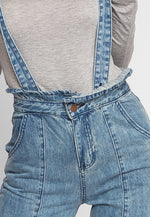 Acid Wash Suspender Jeans