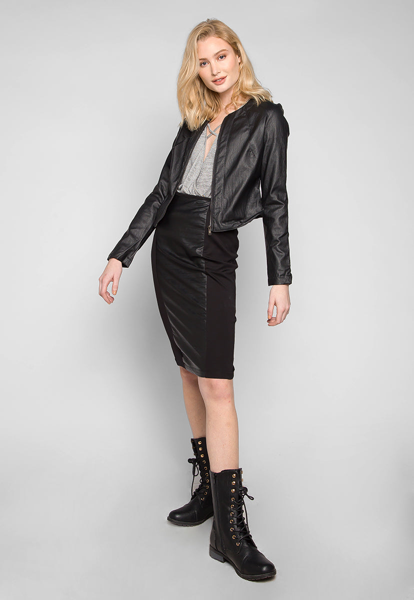 Signals Faux Leather Fitted Jacket - Jackets & Coats - Wetseal