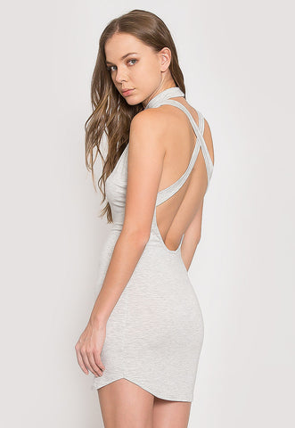 The Original Mock Neck Halter Knit Dress