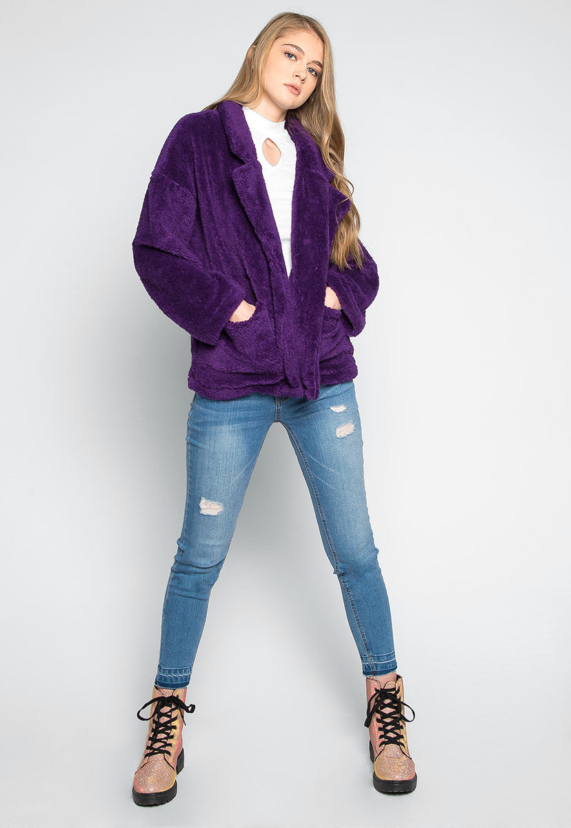 French Toast Front Pockets Fleece Coat - Jackets & Coats - Wetseal
