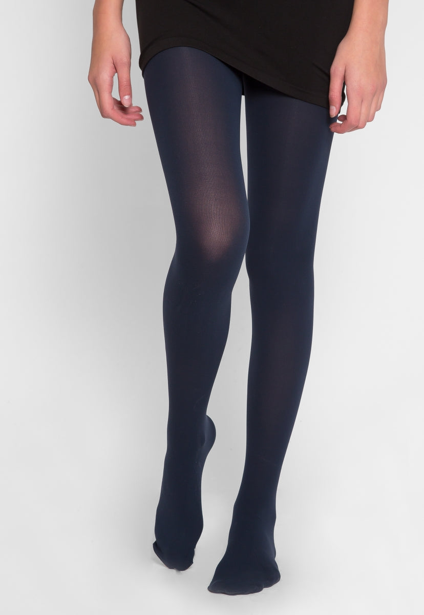 Essentials Tights in Navy - Socks & Legwear - Wetseal