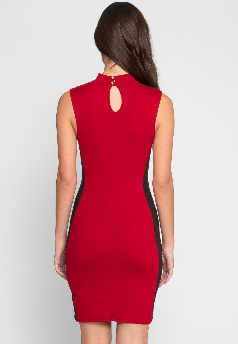 Streetcar Cut Out Dress in Red - Dresses - Wetseal