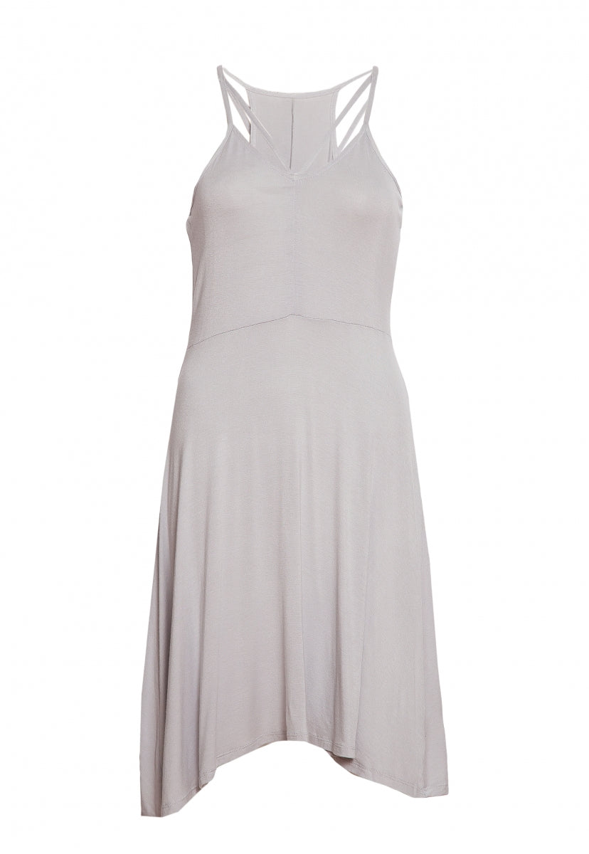 Turn Around Fit and Flare Dress in Mist Gray - Dresses - Wetseal