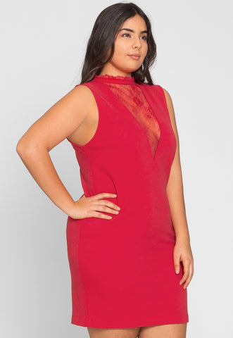 Plus Size Celebration Dress in Red