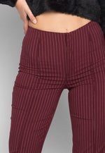 Wine Festival Vertical Stripe Flare Pants
