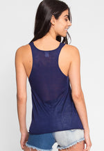 Penny Luxe Tank Top in Navy