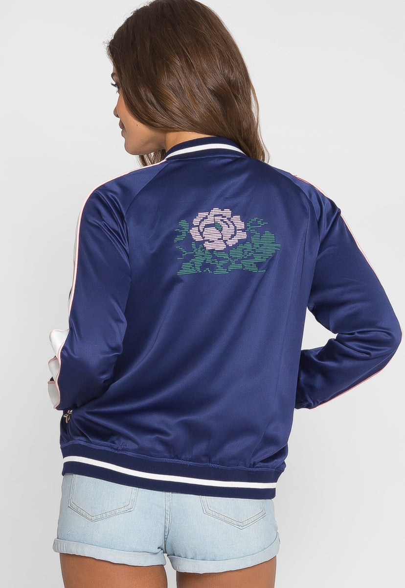 Ball Park Embroidered Bomber Jacket - Jackets & Coats - Wetseal