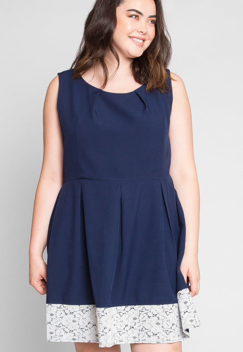 Plus Size Tea Party Fit and Flare Dress