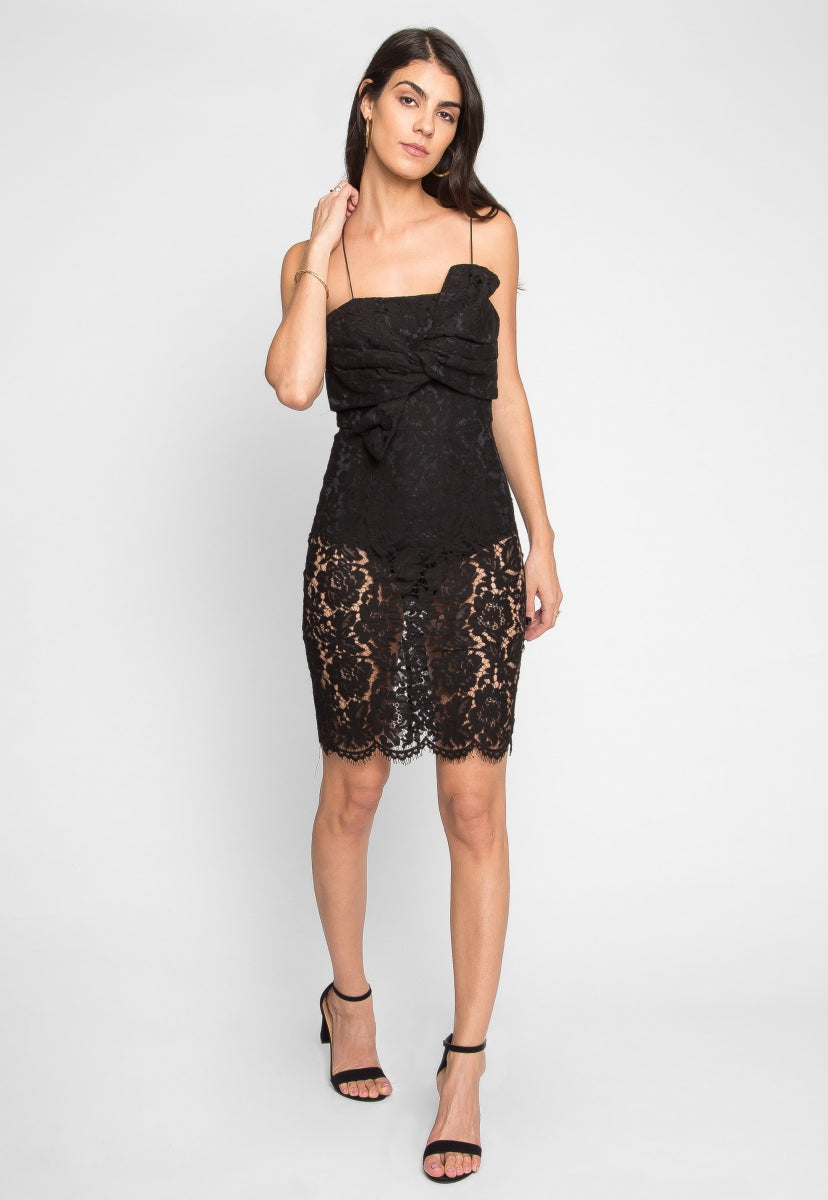 Atlantic Lace Front Tie Dress - Dresses - Wetseal