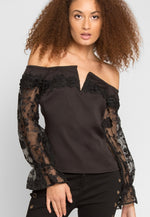 Juno Lace Sleeve Blouse