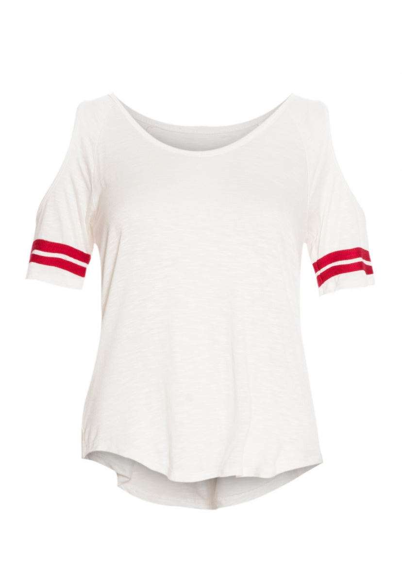 College Break Cold Shouler Top - Shirts & Blouses - Wetseal