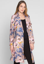 Villas Luxe Floral Trench Coat