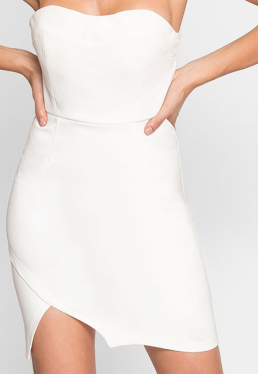 Get Down Choker Bodycon Dress in White - Dresses - Wetseal
