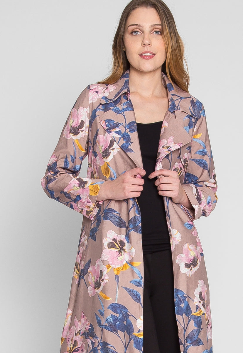 Villas Luxe Floral Trench Coat - Jackets & Coats - Wetseal