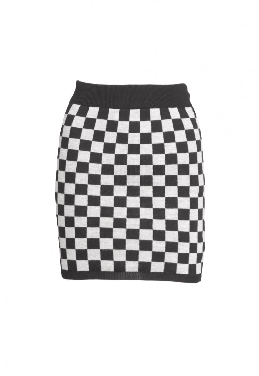 Skate Park Checkered Skirt in Gray - Skirts - Wetseal