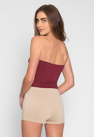 Mighty Strapless Bodysuit in Burgundy