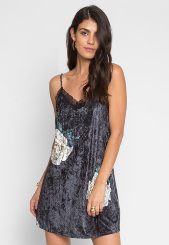Abstract View Floral Cami Dress