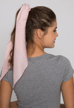 Lake Stripe Tail Scrunchie in Pink